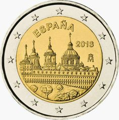 euro: The Royal Seat of San Lorenzo de El Escorial.Country: Spain Mintage year: 2013 Face value: 2 euro Diameter: mm Weight: g Alloy: Bimetal: CuNi, nordic gold Quality: Proof, BU, UNC Piece Euro, French Coins, Euro Coins, Foreign Coins, Valuable Coins, Gaudi, Commemorative Coins, World Coins, How To Get Rich