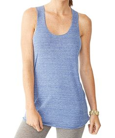Loving this Aggie Gray Blue Racerback Tank - Women on #zulily! #zulilyfinds