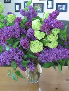 Korean Flower Arrangement: Lilac/Snowball Spring Arrangement