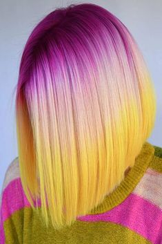 Strawberry Lemonade ❤ Want to pull off unicorn hair? A basic tutorial on how to color your hair, rainbow ombre, peekaboo highlights, and pastel ideas are waiting for you! Pretty Hair Color, Beautiful Hair Color, Hair Color Blue, Exotic Hair Color, Extreme Hair Colors, Unicorn Hair Color, Lange Blonde, Creative Hair Color, Hair Dye Colors