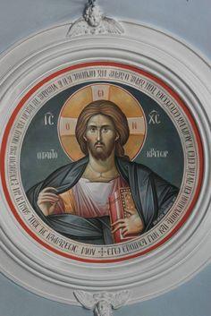Iconographer Dimitris Maniatis – icoana Byzantine Icons, Byzantine Art, Writing Icon, Christ Pantocrator, Decorative Wall Panels, Holy Quotes, Orthodox Icons, Fresco, Jesus Christ