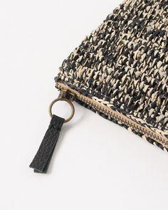 SANS ARCIDET crochet clutch bag