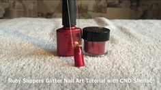 Ruby Slippers Glitter Nails with CND Shellac & Additives Tutorial - YouTube - Nails By Rebecca Louise