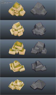 Low Poly Rocks - 3DOcean Item for Sale
