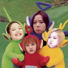 Memes Kpop Br, Blackpink Memes, Blackpink Funny, Funny Mems, Cute Laptop Stickers, Black Pink Kpop, Blackpink Photos, Fandom, Meme Faces