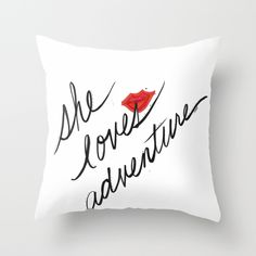 Chic Throw Pillow for the lady! Home Decor