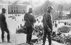2 WW campaign of Denmark_Norway from on Norway securing post in Oslo about 12April 1940