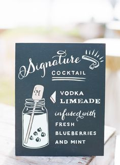 #signs, #signature-drinks  Photography: Jodi Miller Photography - www.jodimillerphotography.com  Read More: http://www.stylemepretty.com/2014/05/12/casual-southern-garden-wedding/
