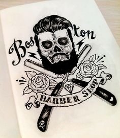 Boston Barber Shop Art by War Espejo