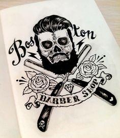 Boston Barber Shop Art by War Espejo