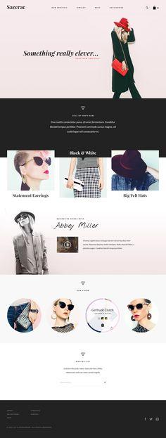 E-commerce web design inspiration for fashion brands and businesses. For fashion… Web Design Inspiration, Web Design Trends, Web Design Tips, Blog Design, Website Layout, Web Layout, Responsive Web Design, Page Design, Fashion Brands