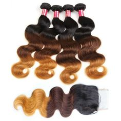 【Bundles With Closure】mink ombre hair colored hair extensions brazilian body wave virgin hair cheap hair bundles natural ombre hair Natural Ombre Hair, Best Ombre Hair, Brown Ombre Hair, Ombre Hair Color, Curly Human Hair Extensions, Colored Hair Extensions, Hair Bundle Deals, Body Wave Hair, Brazilian Body Wave