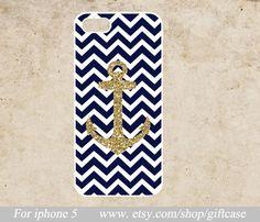 Chevron+anchor.... Metallic Anchor iPhone 5c Caseanchor iPhone 5s Case by Giftcase, $6.99