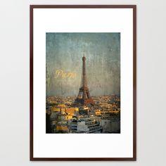 I love Paris Framed Art Print by inourgardentoo