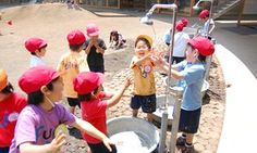 Designing the best cities for children involves recognising their right to play as well as learn, says groundbreaking kindergarten architect Takaharu Tezuka Takaharu Tezuka, Kindergarten Design, Outdoor Learning, Learning Spaces, Best Cities, The Guardian, Childcare, Fuji, City