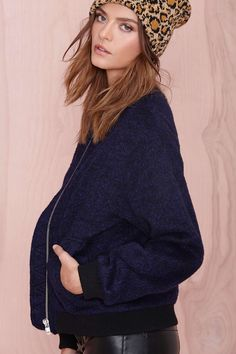 nasty gal. stealth bomber jacket. #fashion