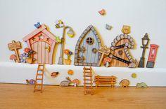Fairy Door BUNDLE accessoriestooth fairy doorpixie by LadySmooch Fairy Crafts, Diy And Crafts, Diy For Kids, Crafts For Kids, Fairy Door Accessories, Tooth Fairy Doors, Elf Door, Fairy Village, Mini Fairy Garden