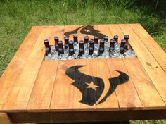 Coffee / Patio Table w/ builtin cooler with your by RusticDesignCo