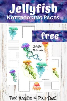 Jellyfish are fascinating animals! And, these free jellyfish notebooking pages are the perfect place to record learning during a jellyfish unit study. Jellyfish Pictures, Jellyfish Facts, Ninja, Teen Numbers, Money Saving Mom, Easy Arts And Crafts, Watercolor Images, Business For Kids, Read Aloud