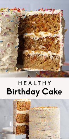 Healthy Birthday Desserts, Healthy Cake Recipes, Vegan Recipes Easy, Healthy Baking, Healthy Desserts, Baking Recipes, Healthy Birthday Cake Alternatives, Birthday Recipes, Gluten Free Desserts