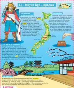 CULTURE - Le Moyen Age japonais Study French, Learn French, Japanese History, Japanese Culture, French Language Learning, Teaching History, Teaching French, Reading Activities, Social Studies