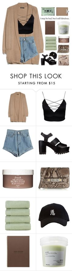 """""""Untitled #2245"""" by tacoxcat ❤ liked on Polyvore featuring MANGO, WithChic, Soles, Fresh, Proenza Schouler, Louis Vuitton and Davines"""