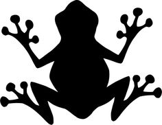 Frog silhouette for Passover crafts. Animal Silhouette, Black Silhouette, Tree Silhouette, Silhouette Cameo, Frog Outline, Harry Potter Stencils, Frog Theme, Frog Crafts, Mosaic Animals