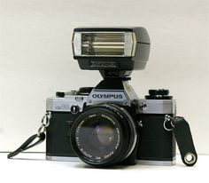 Vintage Olympus OM 10 35 mm Camera with Flash by CanemahStudios, $65.00
