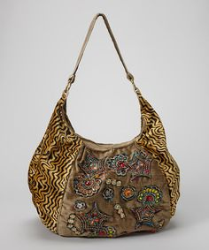 Take a look at this Amber Embroidered Star Hobo by RICKI DESIGNS on #zulily today!