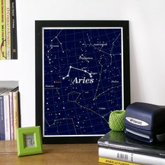 ARIES Zodiac Constellation Art Poster Print  in by PeanutoakPrint, $19.00