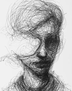portrait art Scribbled Portraits of Brooding Figures by Adam Riches Creepy Drawings, Dark Art Drawings, Creepy Art, Art Drawings Sketches, Contour Drawings, Illustration Art Drawing, Creepy Sketches, Dark Art Illustrations, Charcoal Drawings