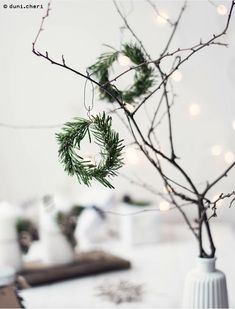 cute christmas diy decoration idea - Home PageHandmade natural wreath on twig tree.cute christmas diy ornament concept Source by duni_cheriWith community member as well as home the Christmas decoration is beautiful of course - we love it! Noel Christmas, Scandinavian Christmas, Diy Christmas Ornaments, Diy Christmas Gifts, Winter Christmas, Christmas Wreaths, Simple Christmas, Xmas, Beautiful Christmas
