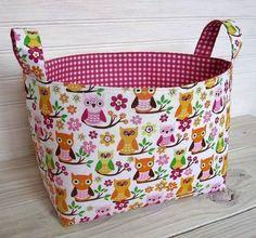 cute owl storage bin