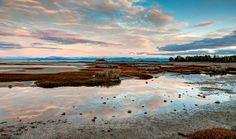 The beach near Marahau and Abel Tasman National Park on New Zealand's South Island.