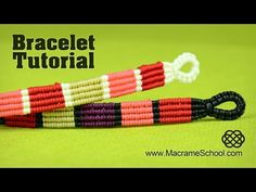 Beaded Candy Stripe Necklace idea by Macrame School. Please watch more macrame necklaces in jewelry playlist - http://goo.gl/26c2Wv Here you have a lot of ch...