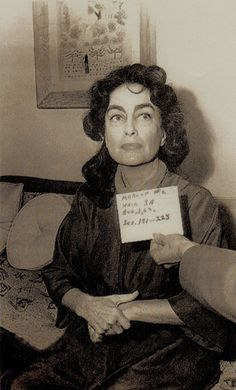 JOAN CRAWFORD as Blanche Hudson rare Hair & make-up test photo WHAT EVER HAPPENED TO BABY JANE? 1962 (minkshmink on pinterest)