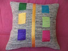 """Kilim Pillow, Turkish Vintage White Kilim Rug Patcwork Pillow 18""""X18"""" İnch Throw,Textile,Colorful Pillow, Modern Decorative Pillows"""