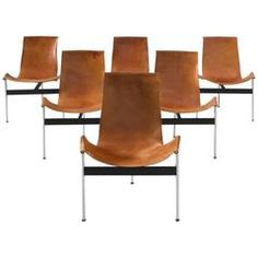 Katalovos T Chairs in Original Cognac Leather Chrome Plating, Modern Chairs, Dining Chairs, The Originals, Antiques, Leather, Furniture, Design, Home Decor
