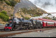 Net Photo: JA 1271 Steam Incorporated Steam at Paekakariki, New Zealand by Chris Mohs South Pacific, Pacific Ocean, News Around The World, Around The Worlds, Edna St Vincent Millay, Abandoned Train, State Of Arizona, Train Times, Train Pictures