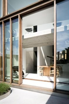 house ideas new Facade Design, Exterior Design, Interior And Exterior, House Design, Wooden Facade, Wooden Windows, Wood Architecture, Glass Facades, House Extensions