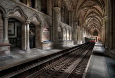 Great British railway stations ...... this is Lichfield Central Station in Staffordshire