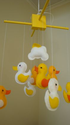 Counting duckys nursery mobile. $60.00, via Etsy.