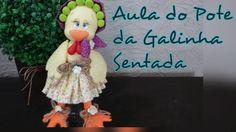 DIY - Pote de galinha sentada - Elisângela Motta