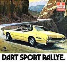 Detail from 1974 Advertisement for Dodge Dart Sport Rallye