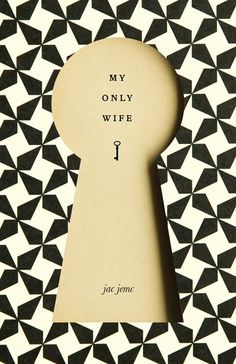 """I really like this book cover design for """"My Only Wife"""" and I feel as though it is an effective design through the use of the two different layers recreating a """"keyhole"""" that acts as a visual metaphor for the plot of this novel, as the wife """"holds the key to his heart"""". This minimalistic design and its simplistic nature is visually impacting and I would like to use this as inspiration for my design concepts for my book covers."""