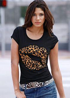Leopard kiss top<3!