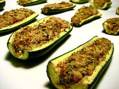 Healthy Recipe: Creamy Zucchini Boats  This is SO easy!