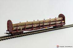LIMA 309094 - H0 1:87 - Carro pianale trasporto tronchi SNCF con carico con confezione