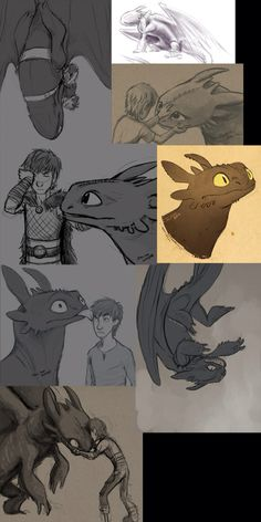 Art dump by JackTheVulture. Toothless Dragon, Hiccup And Toothless, How To Train Dragon, How To Train Your, Fantasy Creatures, Mythical Creatures, Fandom, Httyd Dragons, Dc Anime
