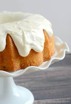 The best lemon bundt cake with out of this world lemon frosting. A perfect cake recipe for lemon fans!